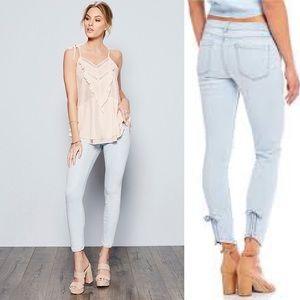 NWOT Chelsea & Violet Bow Zip Ankle Jeans